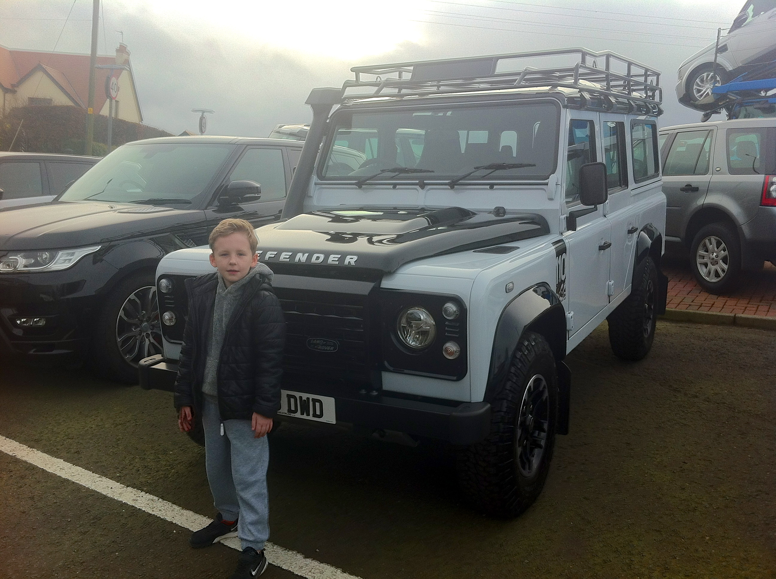 TJ collecting the defender