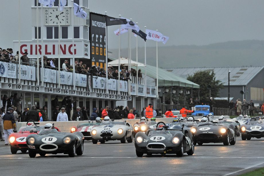 Start of the Sussex Trophy Race at 2013 Goodwood Revival