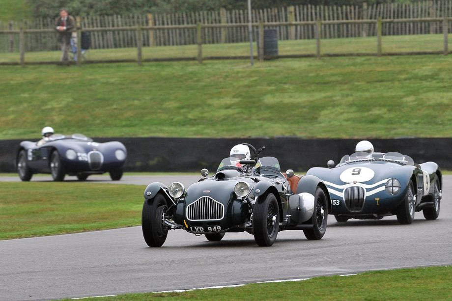 Allard J2 and Jaguar C-Type